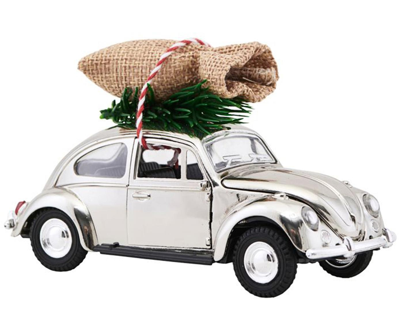 Macchina natalizia decorativa XMAS Delivery, Zinco, plastica, Cromo, verde, beige, Larg. 5 x Alt. 7 cm