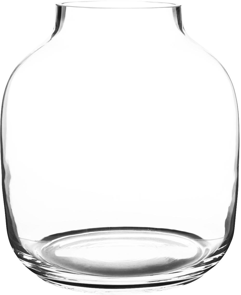 Jarrón de vidrio Yanna, Vidrio, Transparente, Ø 26 x Al 29 cm