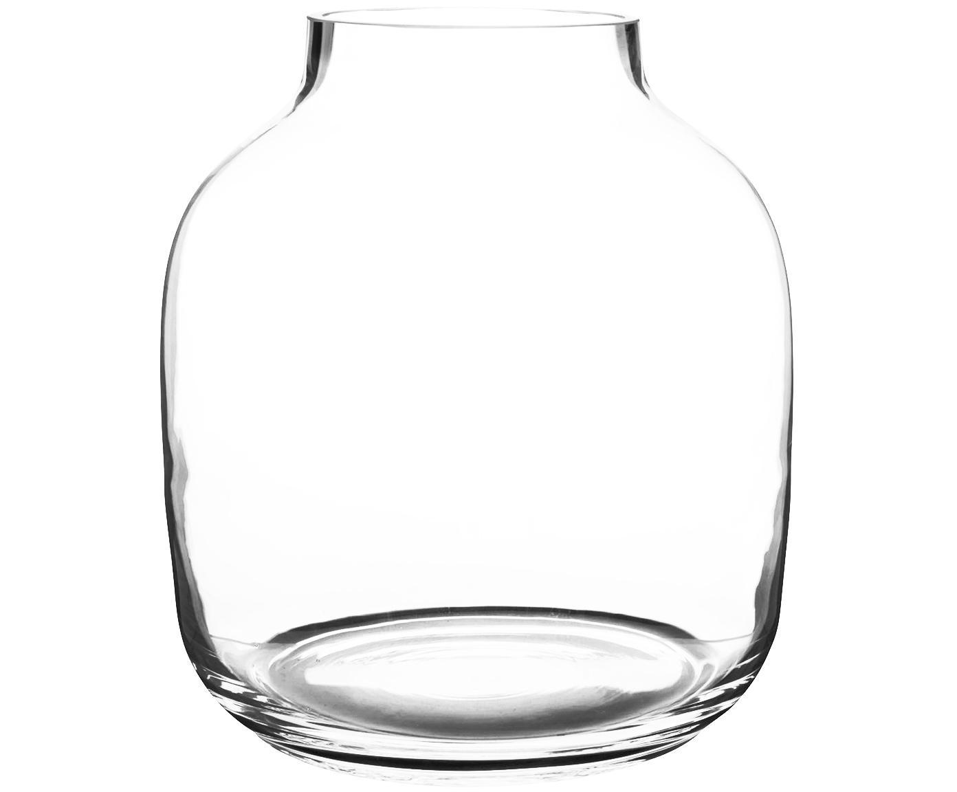 Duży wazon ze szkła Yanna, Szkło, Transparentny, Ø 26 x W 29 cm