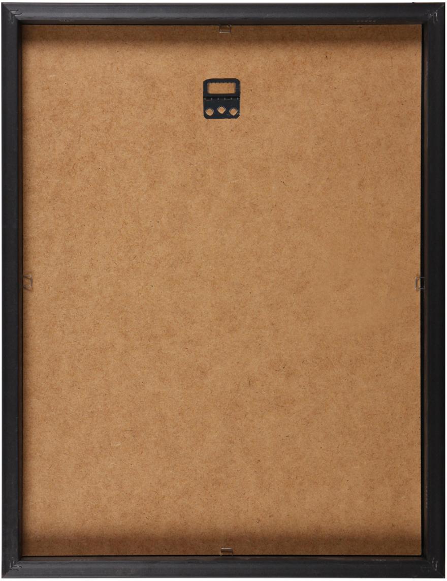 Stampa digitale incorniciata Butterflies Dark, Immagine: stampa digitale, Cornice: materiale sintetico, Nero, bianco, L 30 x A 40 cm