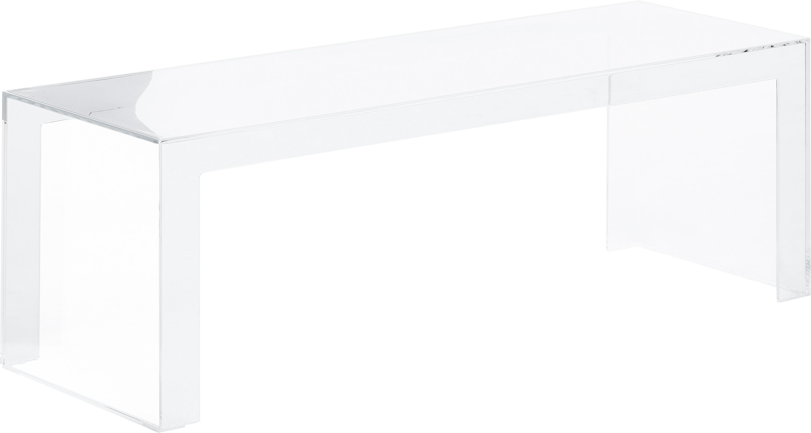 Transparante salontafel Invisible, Kunststof, Transparant, 120 x 40 cm