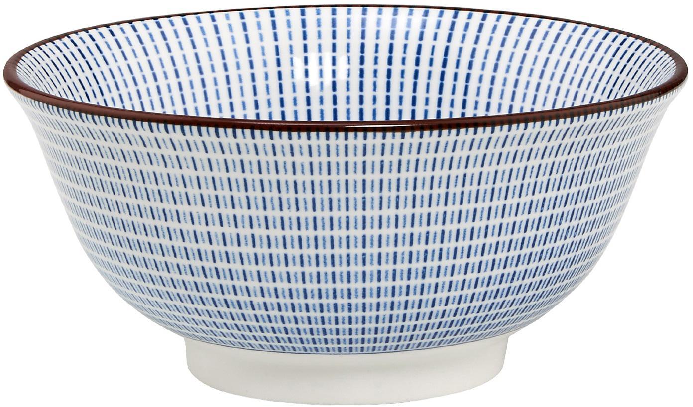 Schalen Dim Sum, 2 stuks, Keramiek, Blauw, wit, bruin, Ø 13 cm