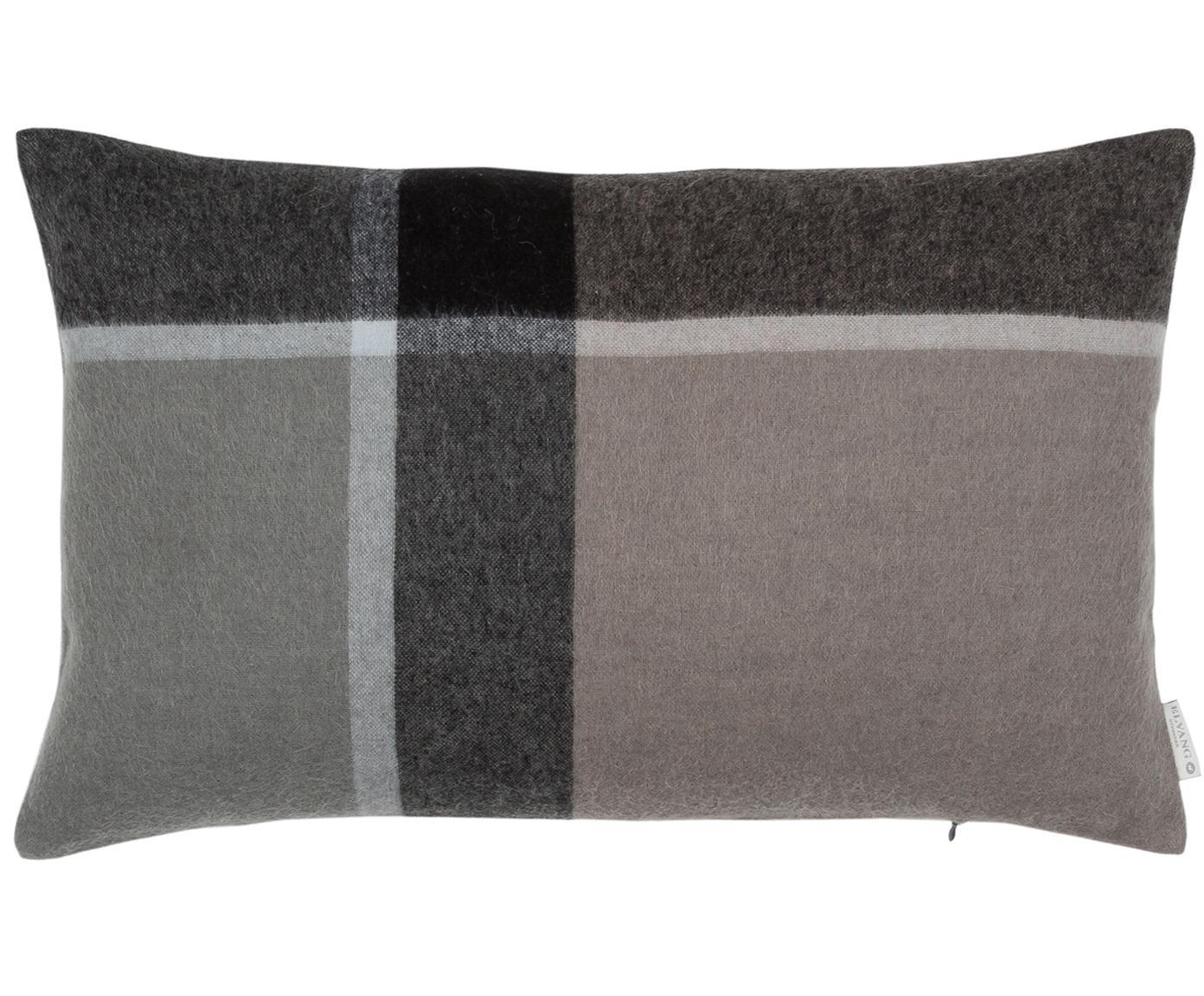 Alpacawollen kussenhoes Manhattan, 50% alpacawol, 40% schapenwol, 10% microvezel, Antraciet, grijs, 40 x 60 cm