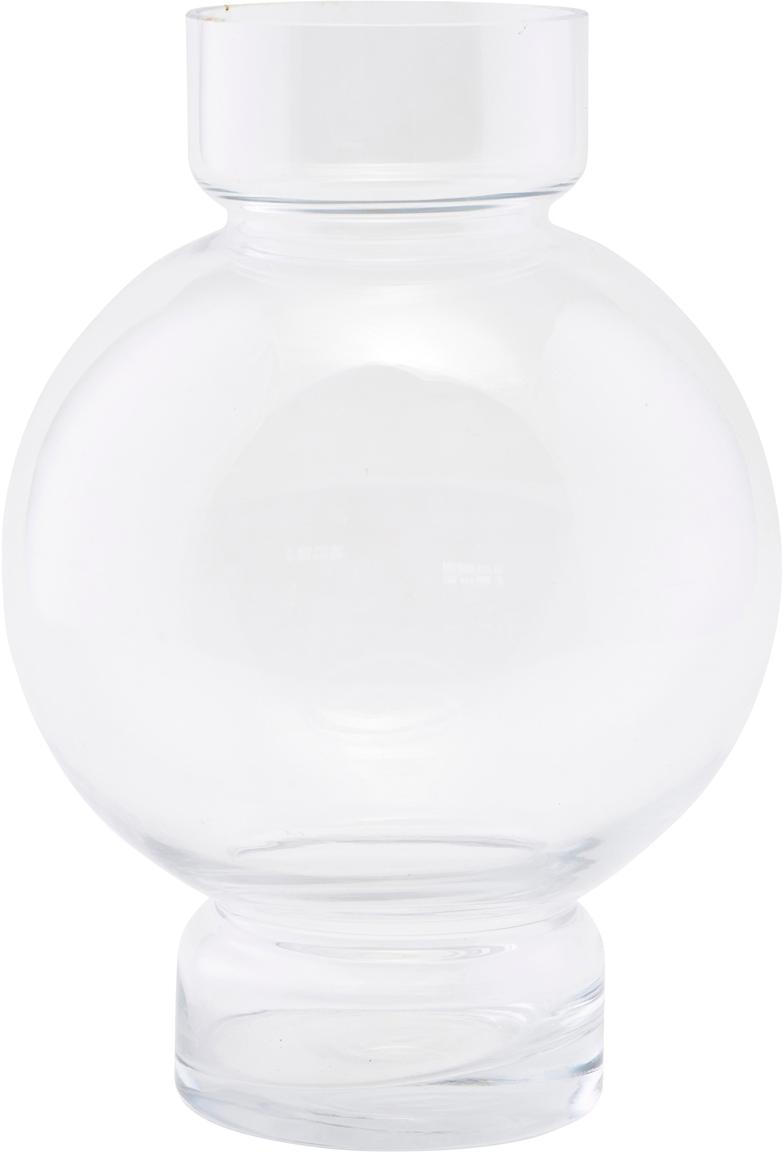 Glas-Vase Bubble, Glas, Transparent, Ø 18 x H 25 cm