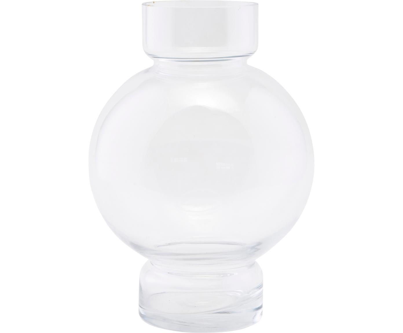 Wazon Bubble, Szkło, Transparentny, Ø 18 x W 25 cm