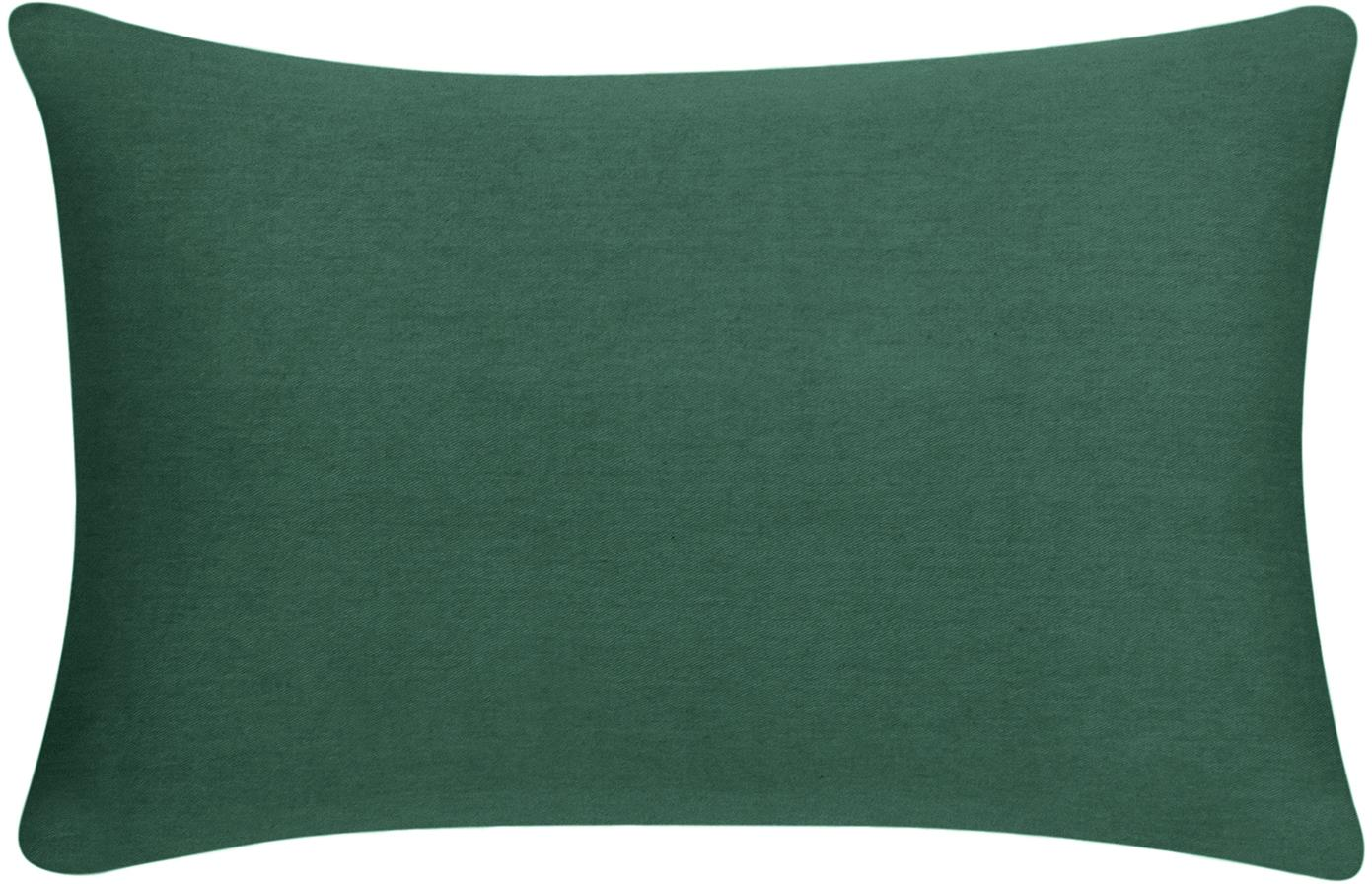 Funda de cojín de algodón Mads, 100%algodón, Verde, An 30 x L 50 cm