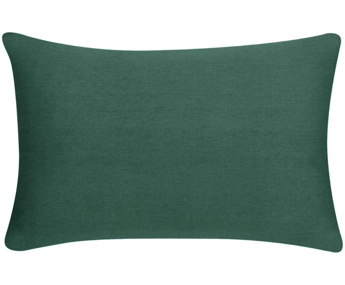 Funda de cojín de algodón Mads, Algodón, Verde, An 30 x L 50 cm
