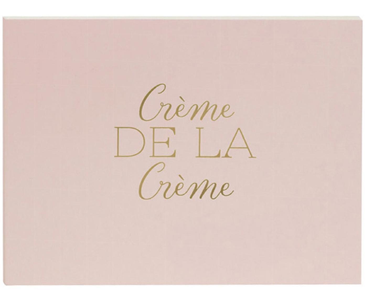 Gastenboek Crème de la Crème, Roze, goudkleurig, 23 x 18 cm