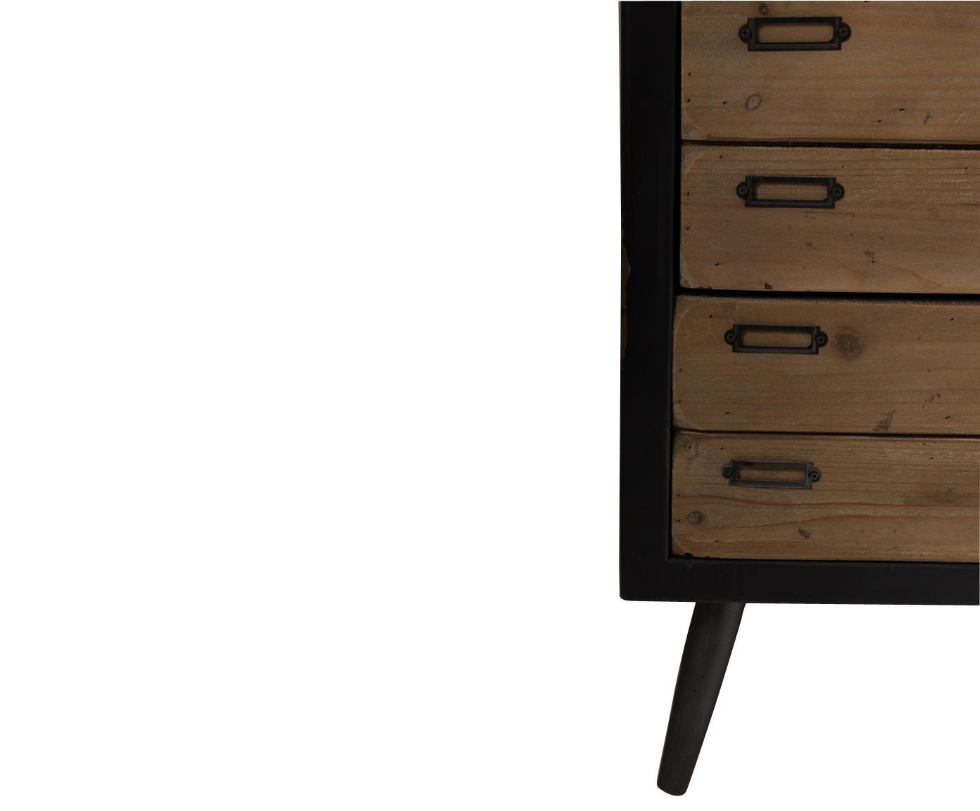 Szafka industrial Sol, Korpus: płyta pilśniowa, lakierow, Czarny, drewno sosnowe, S 55 x W 80 cm