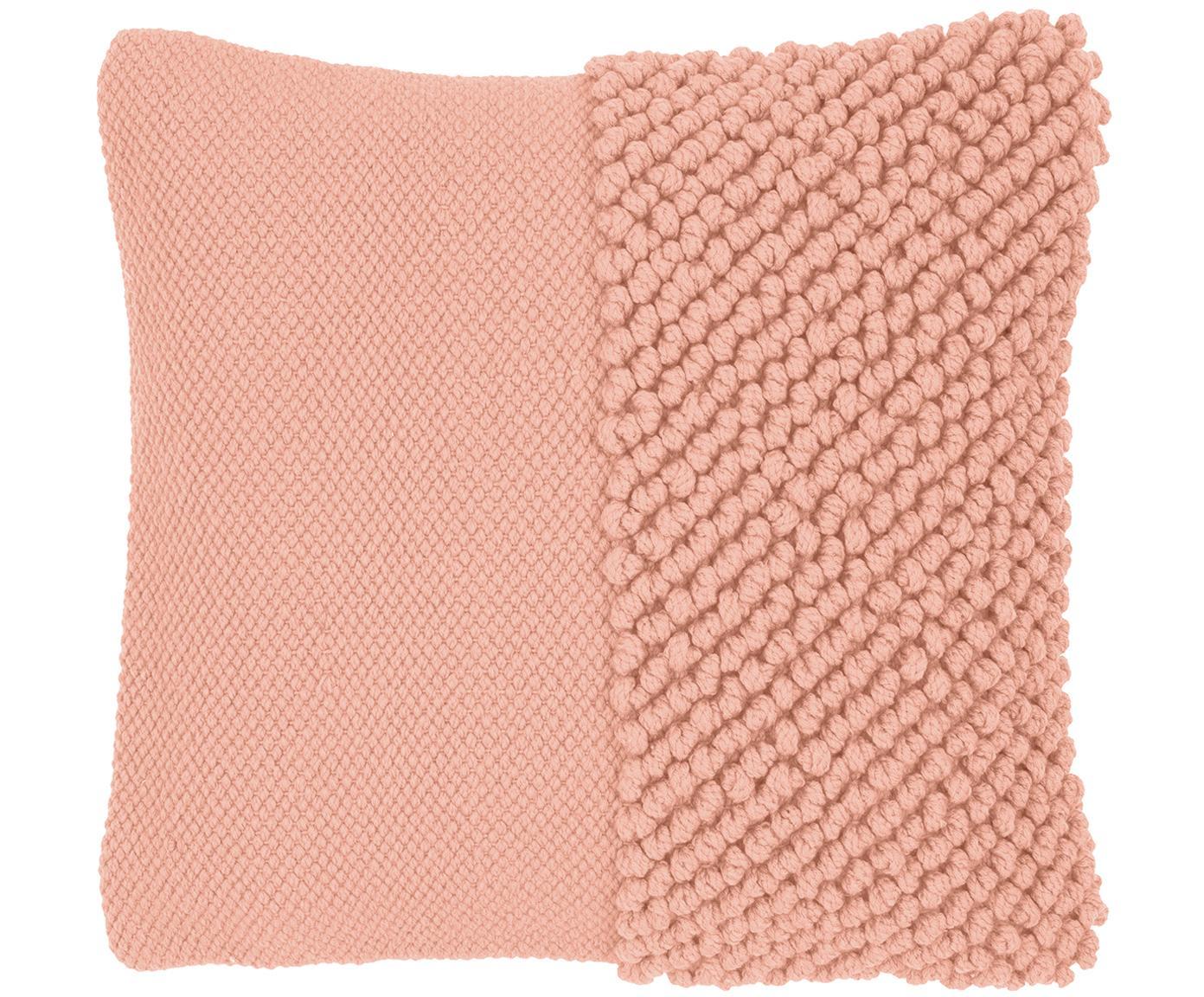 Kissenhülle Andi mit strukturierter Oberfläche, 80% Acryl, 20% Baumwolle, Apricot, 40 x 40 cm