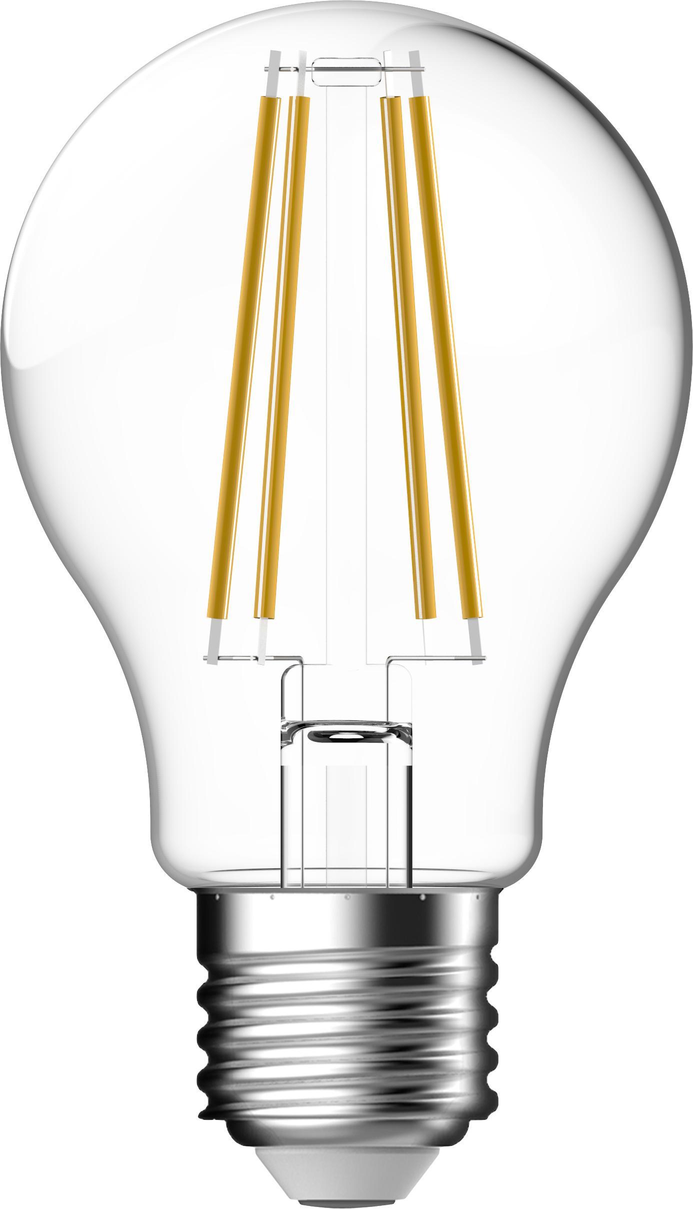 LED-Leuchtmittel Clear (E27/7W), 2 Stück, Leuchtmittelschirm: Glas, Leuchtmittelfassung: Aluminium, Transparent, Ø 6 x H 11 cm