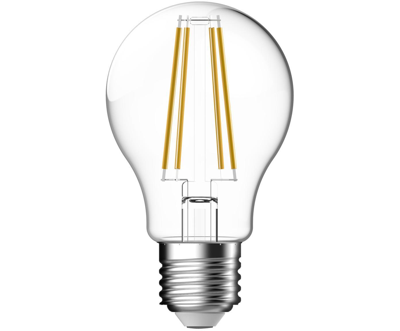 LED lamp Clear (E27 / 7W), 2 stuks, Peertje: glas, Fitting: aluminium, Transparant, Ø 6 x H 11 cm