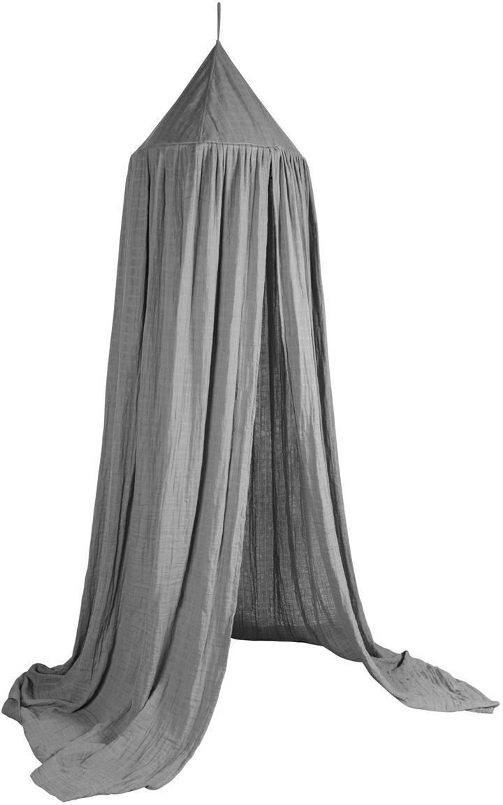 Tendina per letto Stars, Rivestimento: cotone, Grigio, Ø 52 x Alt. 240 cm