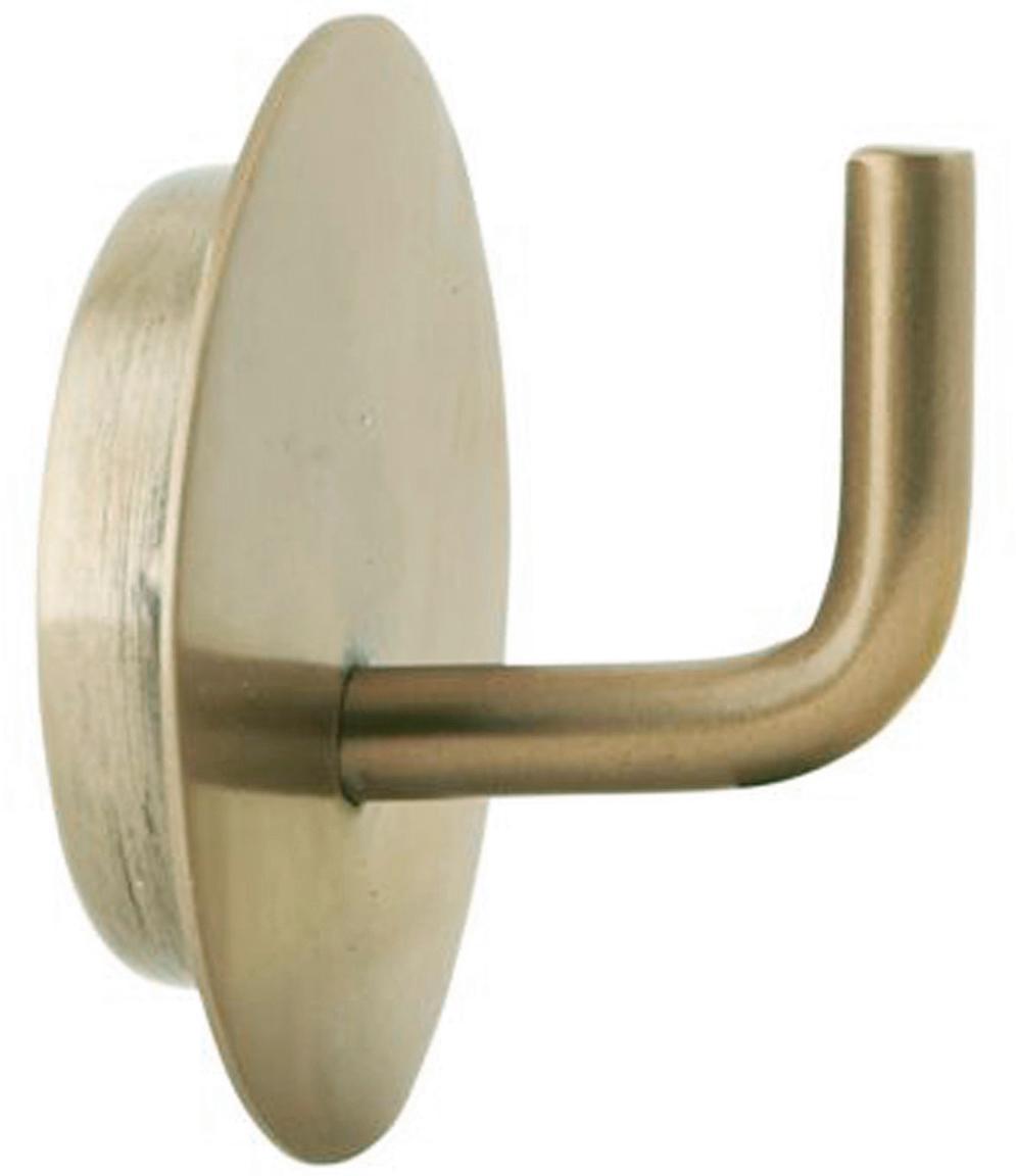 Gancio appendiabiti in metallo Lema 2 pz, Alluminio rivestito, Ottonato, Ø 4 x Prof. 3 cm
