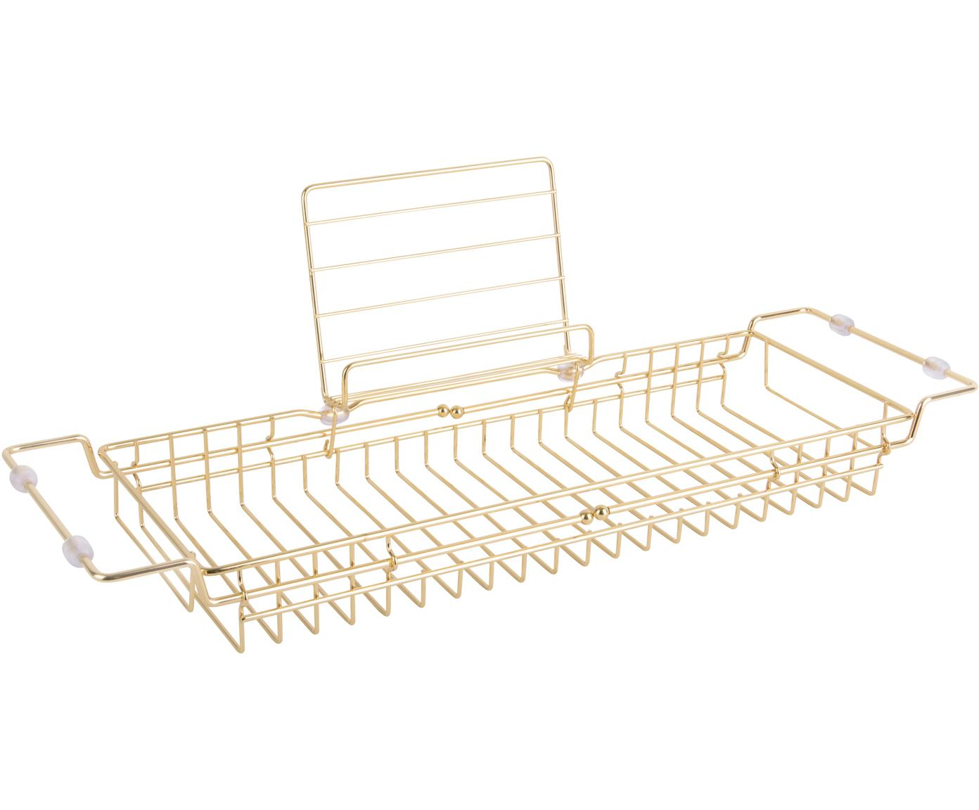 Badplank Tubad, Gecoat metaal, Goudkleurig, 61 x 18 cm