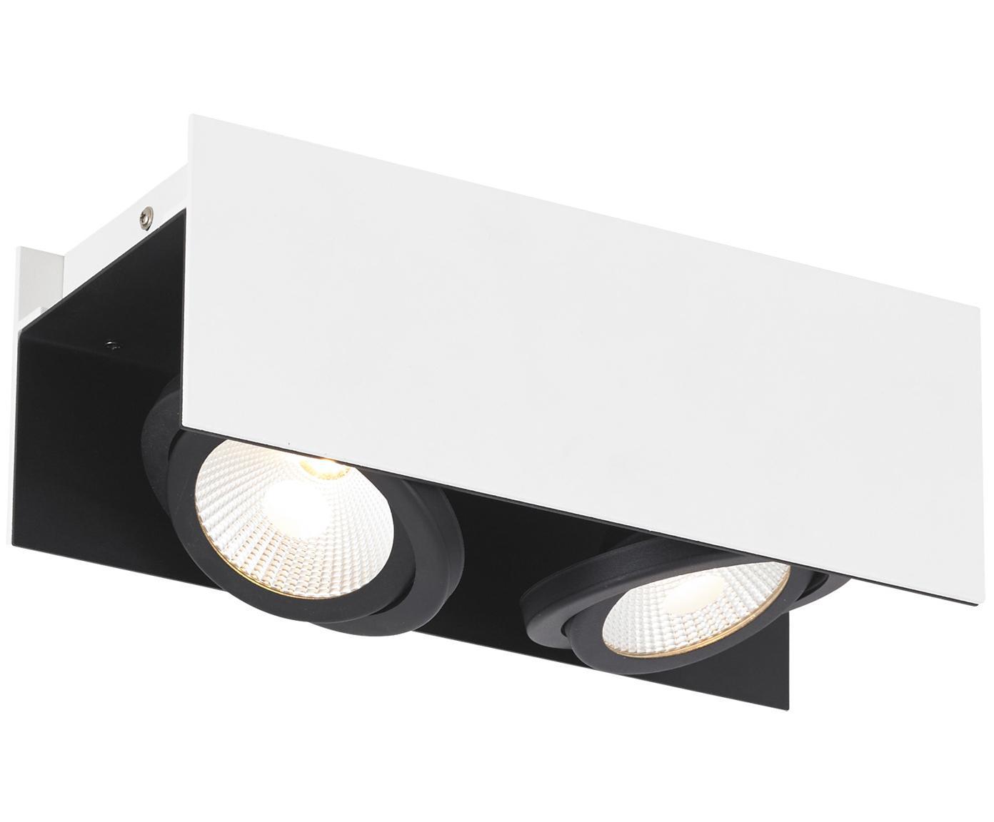 Riel LED Vidago, Cuerpo: acero pintado, Pantalla: aluminio recubierto, Blanco, negro, An 31 x Al 11 cm