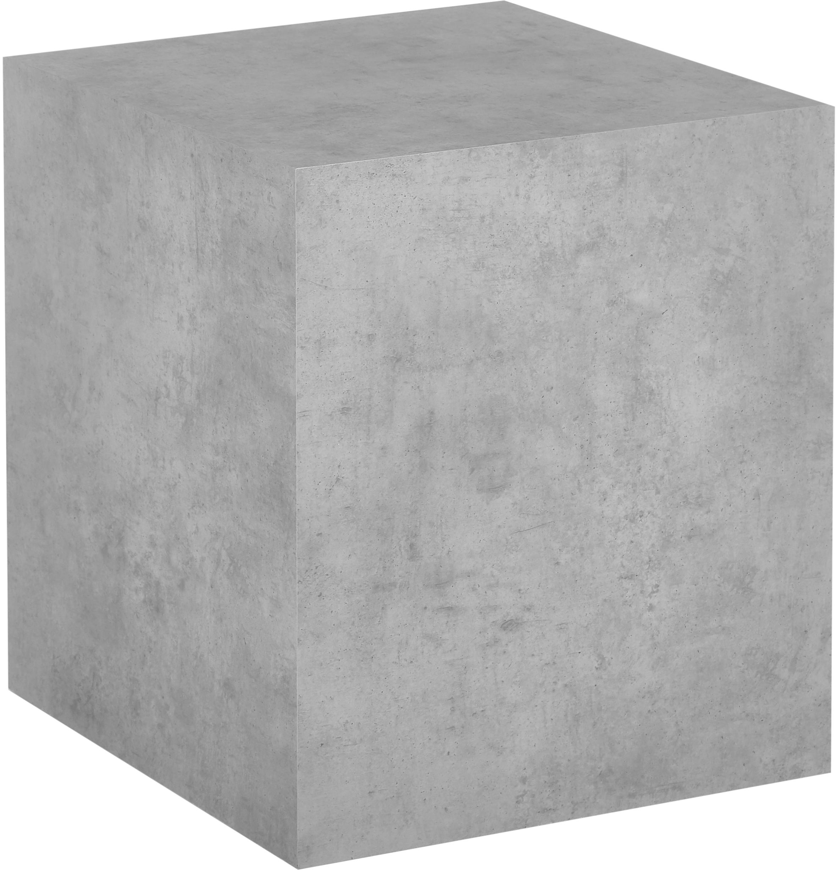 Mesa auxiliar Lesley, Tablero de fibras de densidad media(MDF), recubierto en melanina, Gris, aspecto cemento, An 45 x Al 50 cm