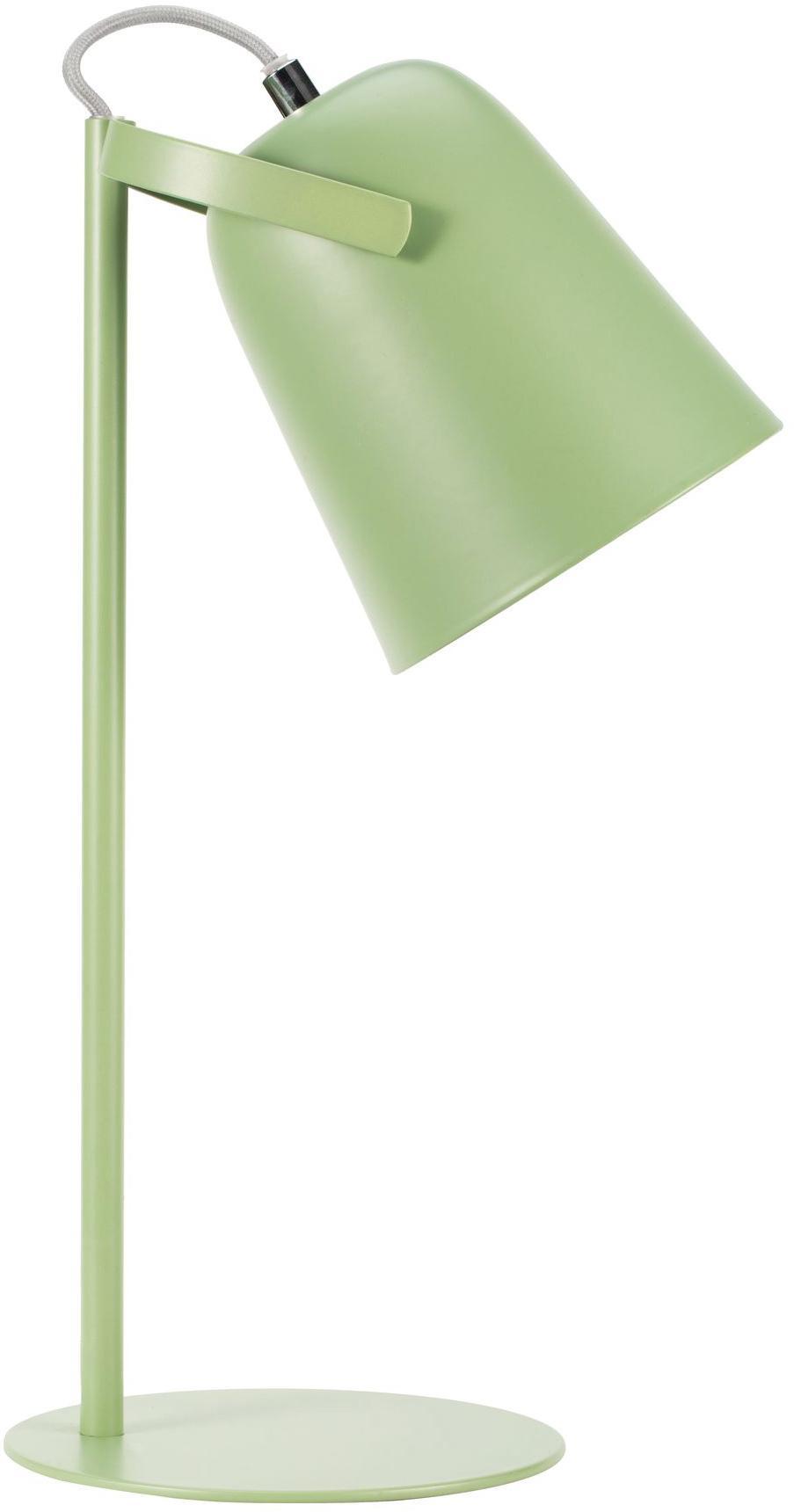 Retro-Schreibtischlampe Bari, Lampenschirm: Metall, beschichtet, Lampenfuß: Metall, beschichtet, Grün, Ø 15 x H 40 cm
