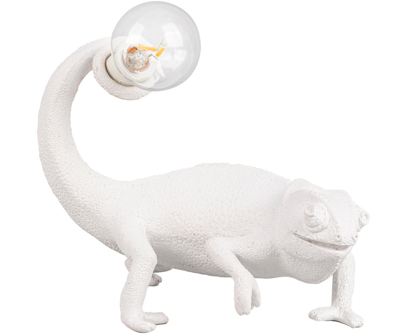 Lámpara de mesa Chameleon, Poliresina, Blanco, An 17 x Al 14 cm