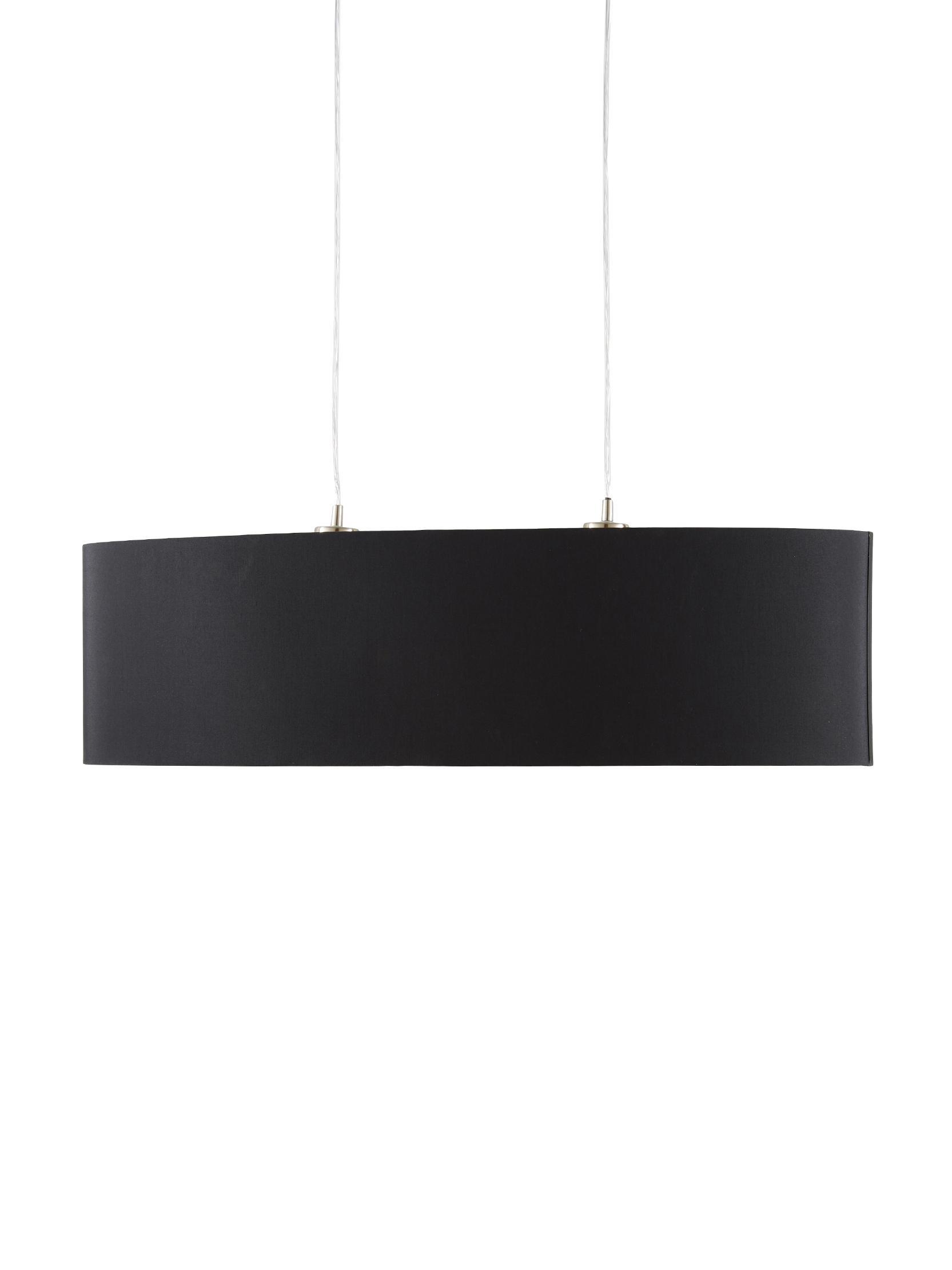 Lámpara de techo Jamie, Anclaje: metal niquelado, Cable: plástico, Plateado, negro, An 78 x Al 22 cm