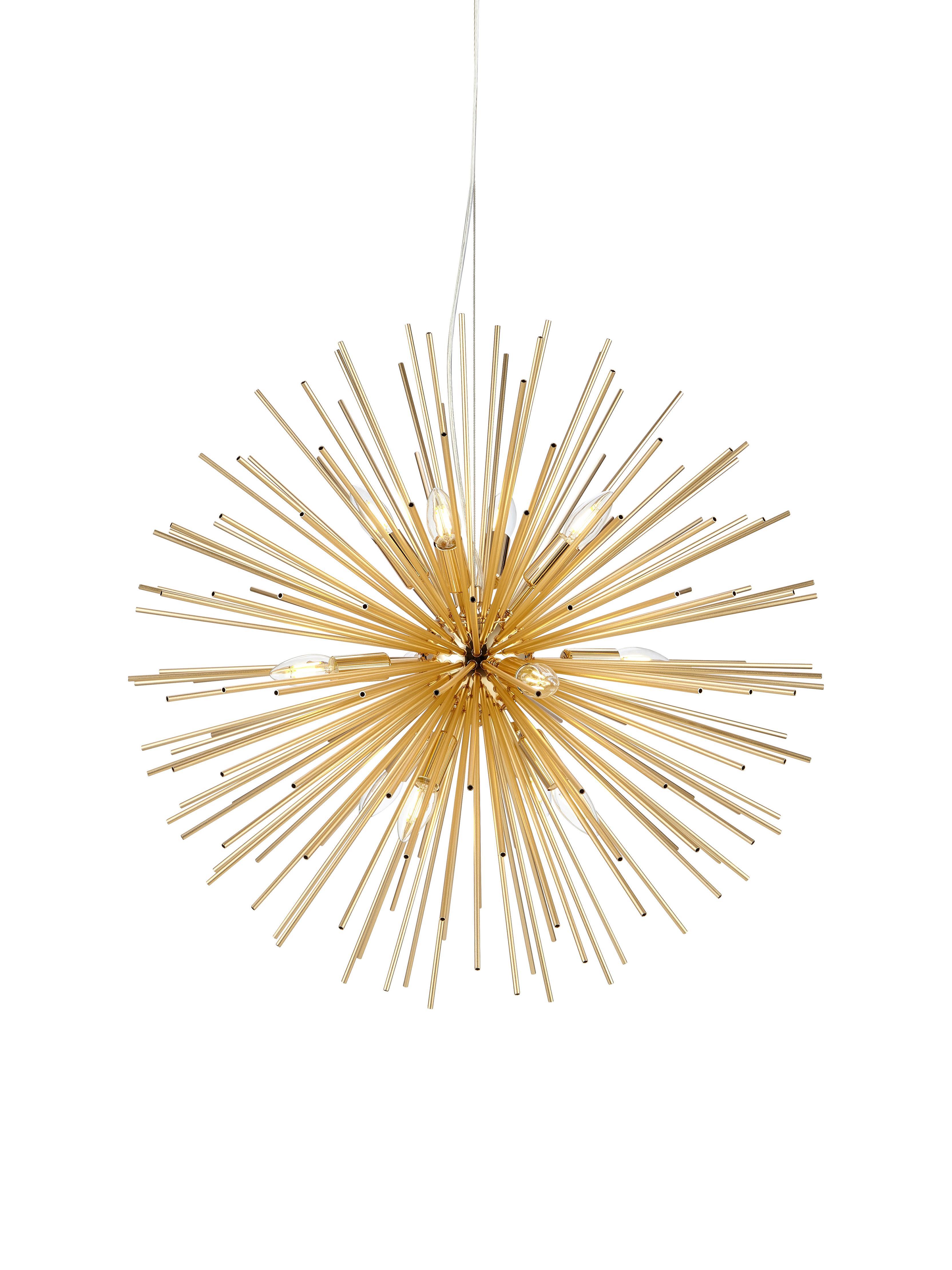 Lampada a sospensione Soleil, Ottonato, Ø 72 x Alt. 200 cm