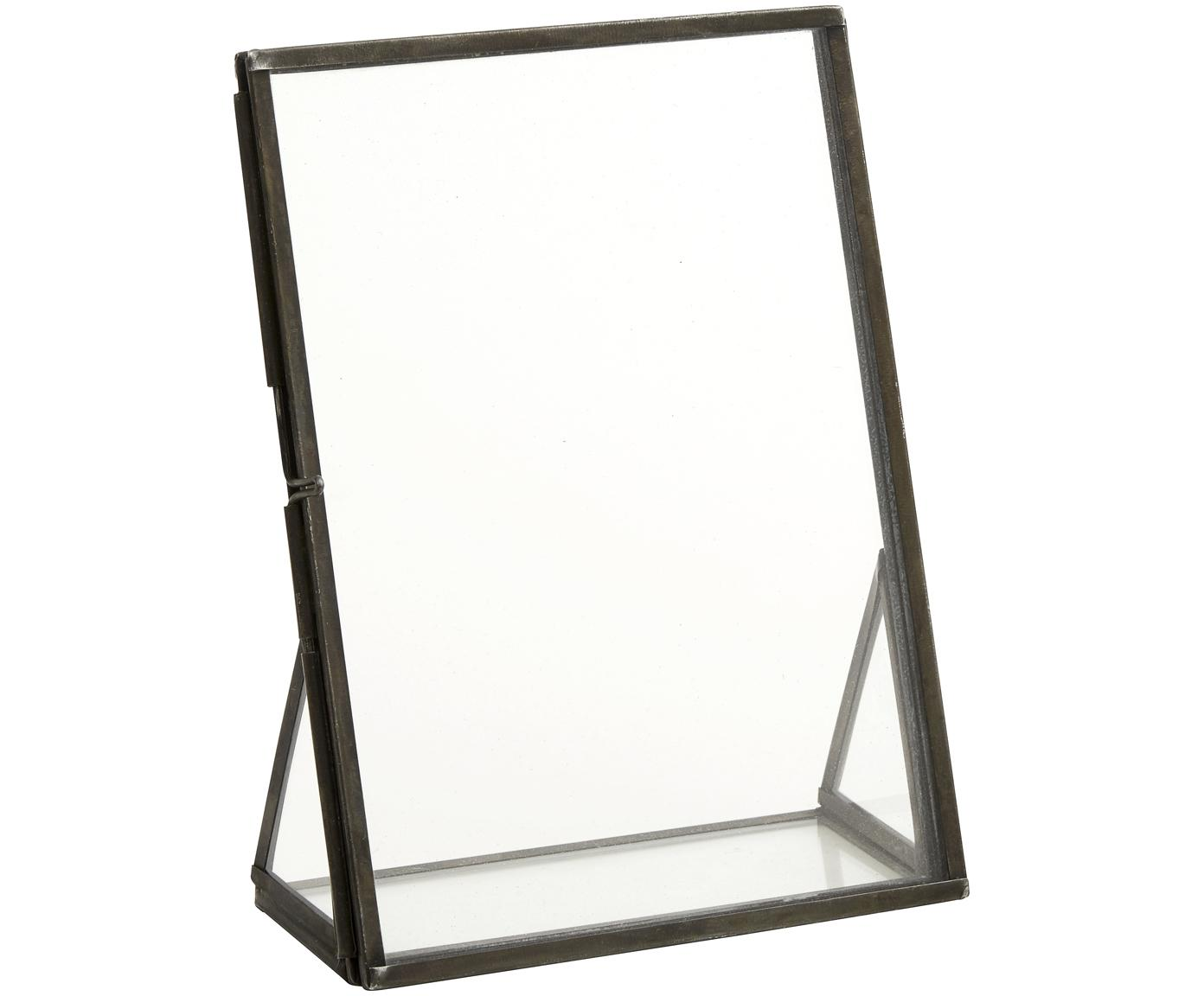Bilderrahmen Mamun, Rahmen: Metall, beschichtet, Front: Glas, Schwarz, Transparent, 13 x 18 cm
