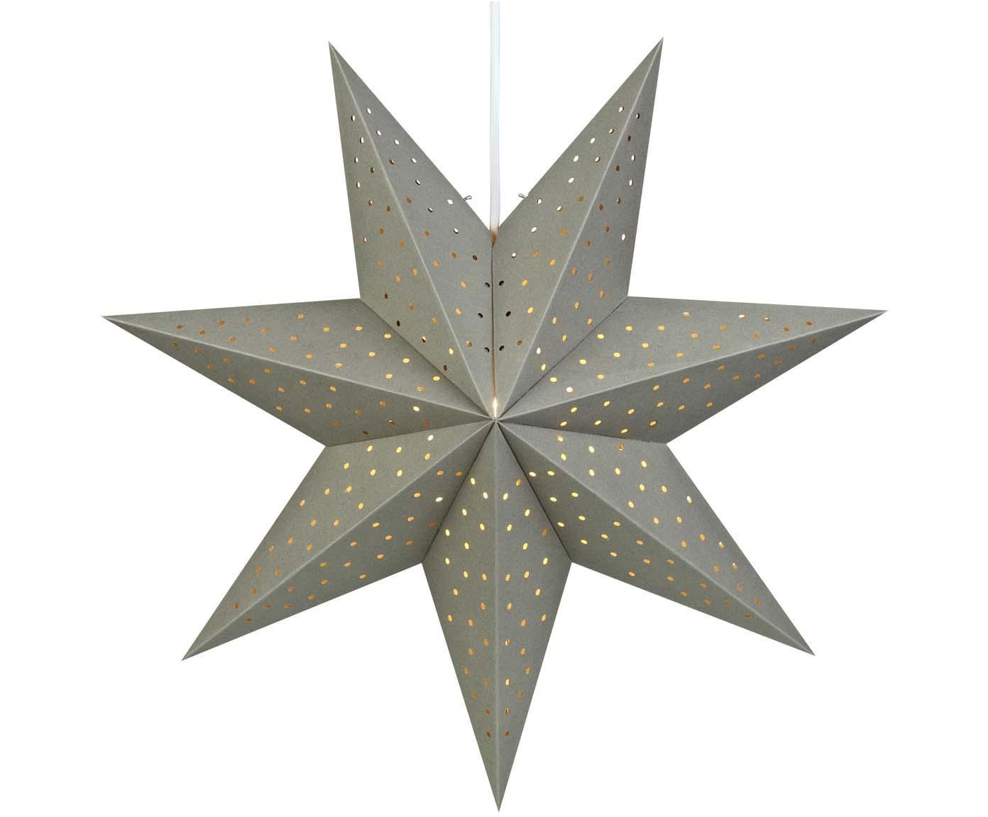 Stella di Natale di carta Morris, Grigio, Ø 45 cm