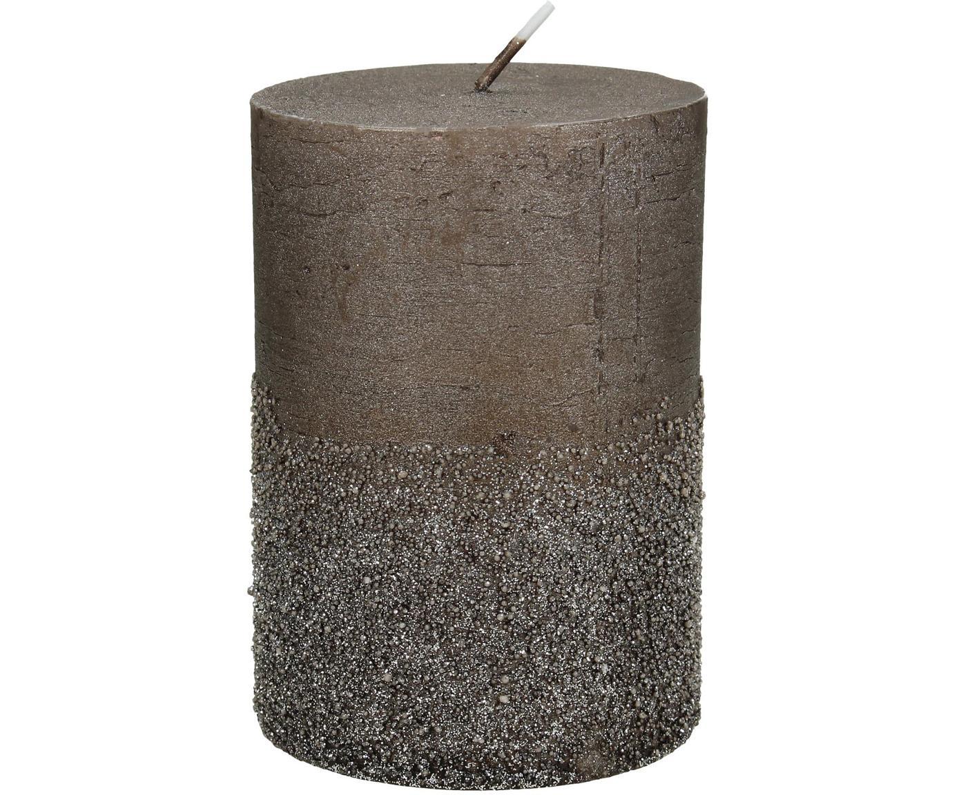 Świeca pieńkowa Glitters, Wosk, Brązowy, Ø 7 x W 10 cm