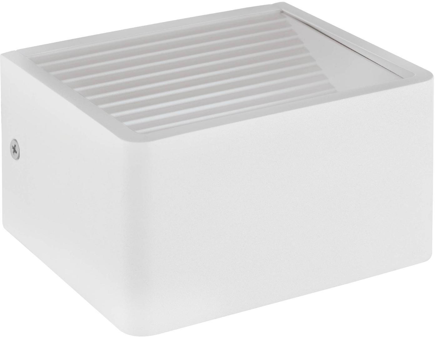 Applique a LED da esterno Doninni, Alluminio, materiale sintetico, Bianco, Larg. 14 x Alt. 8 cm