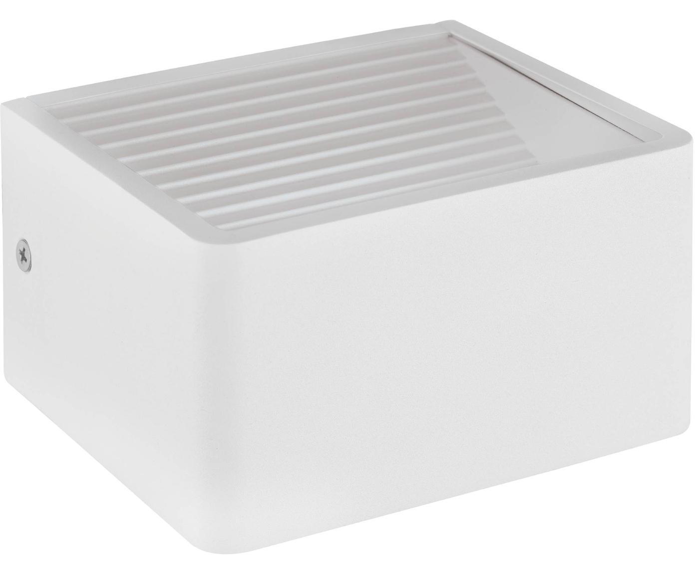 Aplique LED para exterior Doninni, Estructura: aluminio, Blanco, An 14 x F 8 cm