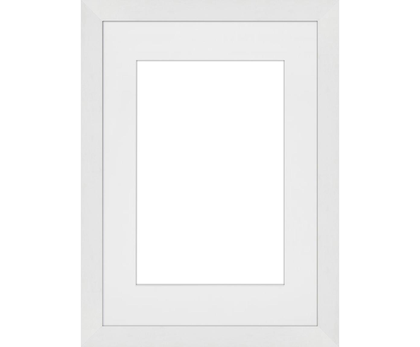 Cornice Apollon, Cornice: legno di pino Monterey ve, Retro: Pannello di fibra a media, Bianco, 21 x 30 cm