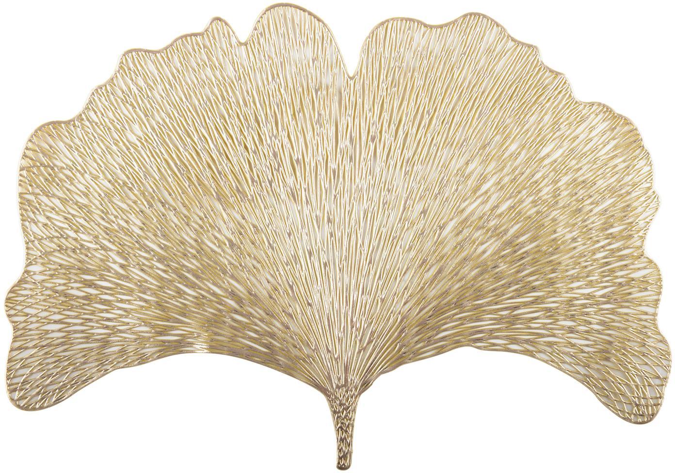 Podkładka Ginkgo, 2 szt., Tworzywo sztuczne, Odcienie złotego, S 30 x D 44 cm