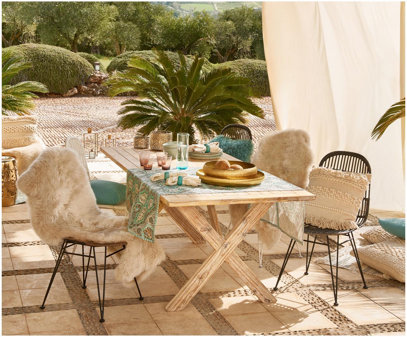 Tuintafel Arizona, Wit gewassen acaciahout, Wit gewassen acaciahout, B 200  x D 90 cm