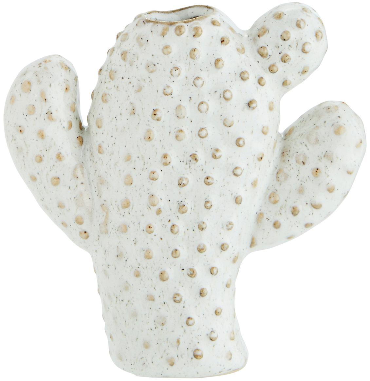 Kleine Vase Caty aus Steingut, Steingut, Weiss, Beige, 12 x 13 cm
