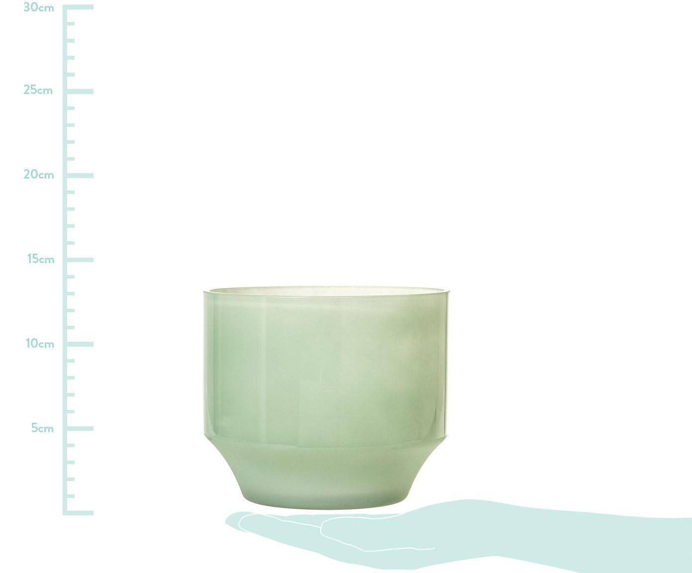 Macetero Emilia, Vidrio, Verde claro, Ø 15 x Al 13 cm