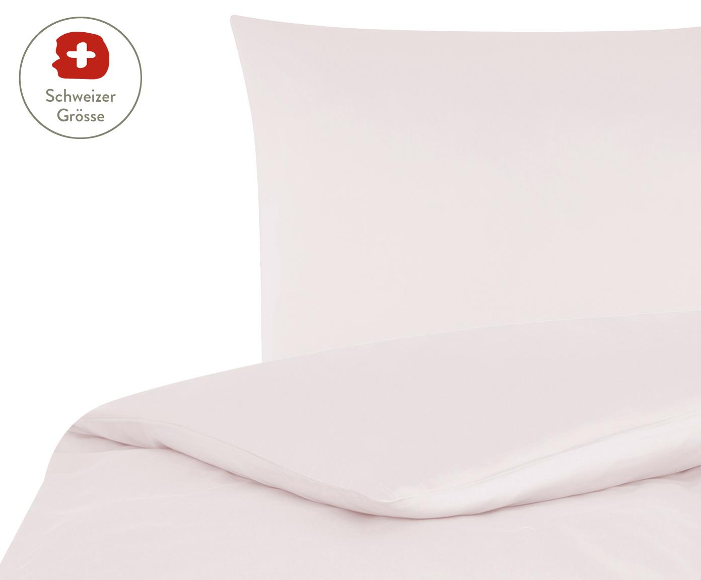 Baumwollsatin-Bettdeckenbezug Comfort in Rosa, Webart: Satin, leicht glänzend, Rosa, 160 x 210 cm