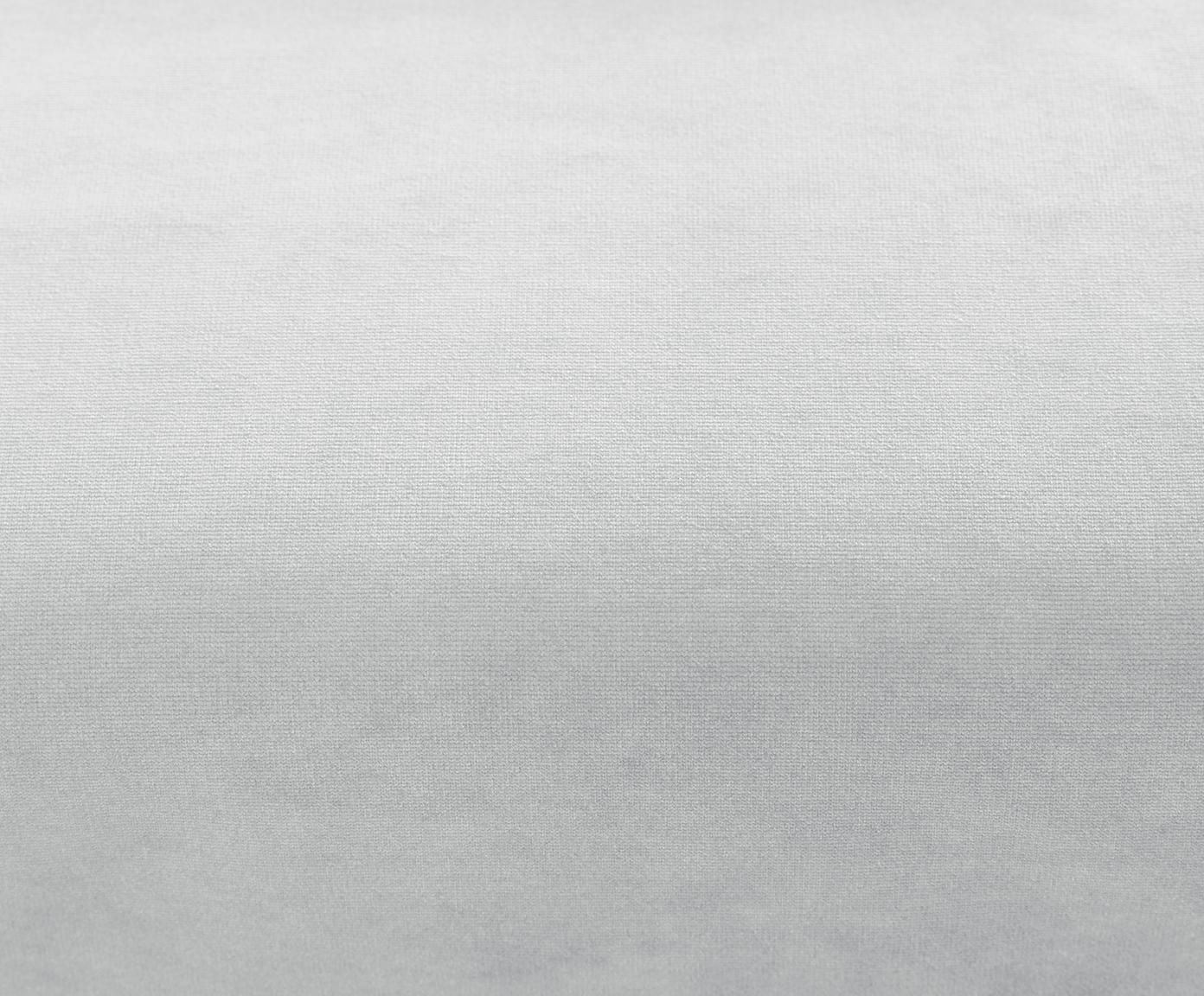 Chaise longue in velluto grigio chiaro Fluente, Rivestimento: velluto (copertura in pol, Struttura: legno di pino massiccio, Piedini: metallo verniciato, Velluto grigio chiaro, Larg. 201 x Prof. 83 cm