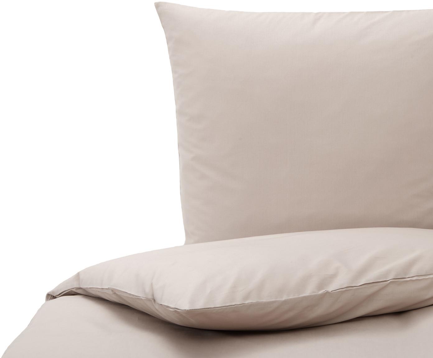 Baumwoll-Bettwäsche Weekend in Taupe, 100% Baumwolle Bettwäsche aus Baumwolle fühlt sich auf der Haut angenehm weich an, nimmt Feuchtigkeit gut auf und eignet sich für Allergiker., Taupe, 135 x 200 cm + 1 Kissen 80 x 80 cm