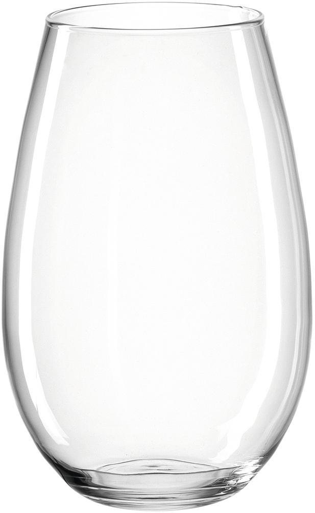 Jarrón artesanal de vidrio Casolare, Vaso, Transparente, Ø 22 x Al 35 cm