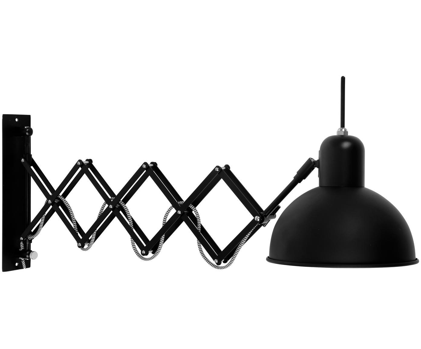 Wandlamp Fjallbacka met stekker, Lamp: gelakt metaal, Zwart, 25 x 27 cm