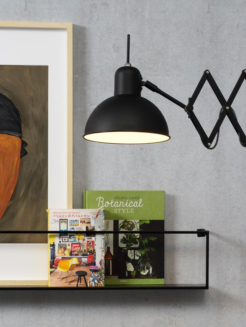 Wandleuchte Aberdeen mit Stecker, Leuchte: Metall, lackiert, Schwarz, 25 x 27 cm