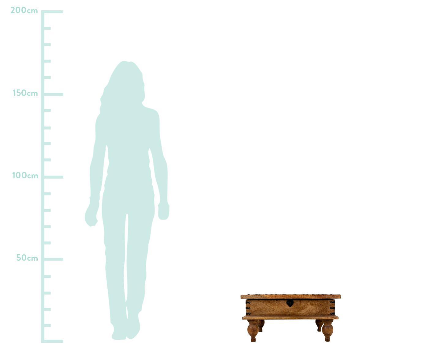 Mesa de centro Aitana, Marrón, An 60 x Al 30 cm