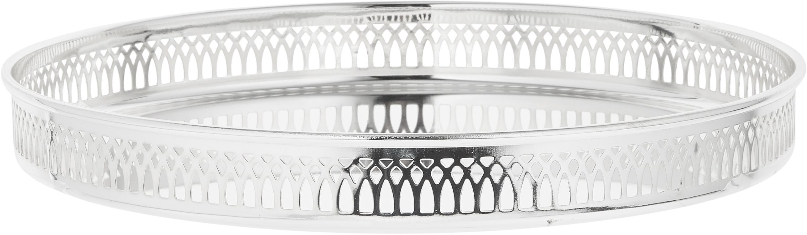 Bandeja redonda Delphi, Acero, plateado, Plata, Ø 30 cm