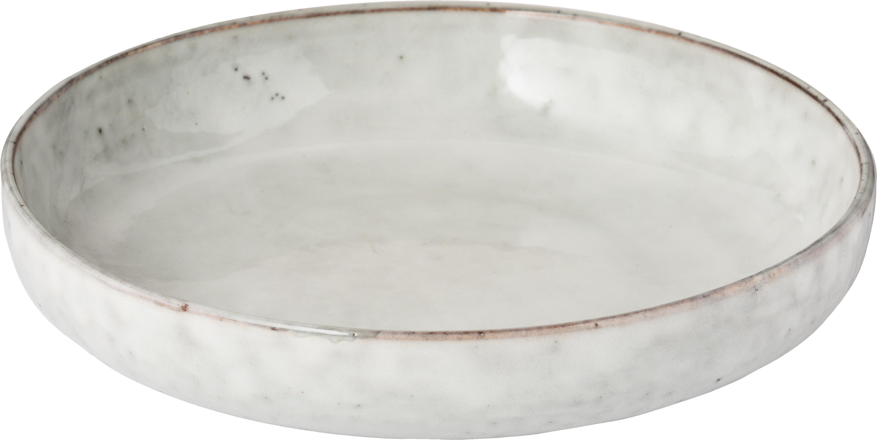 Handgemaakte schalen Nordic Sand, 4 stuks, Keramiek, Zandkleurig, Ø 22 x H 5 cm