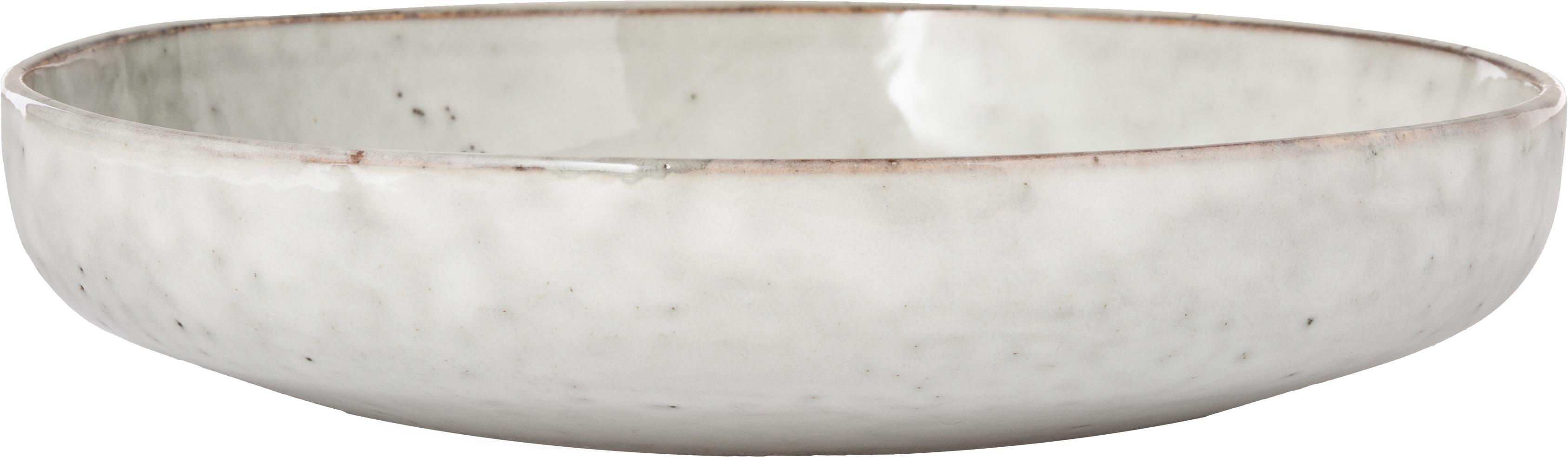 Handgemachte Schalen Nordic Sand Ø 22 cm aus Steingut, 4 Stück, Steingut, Sandfarben, Ø 22 x H 5 cm
