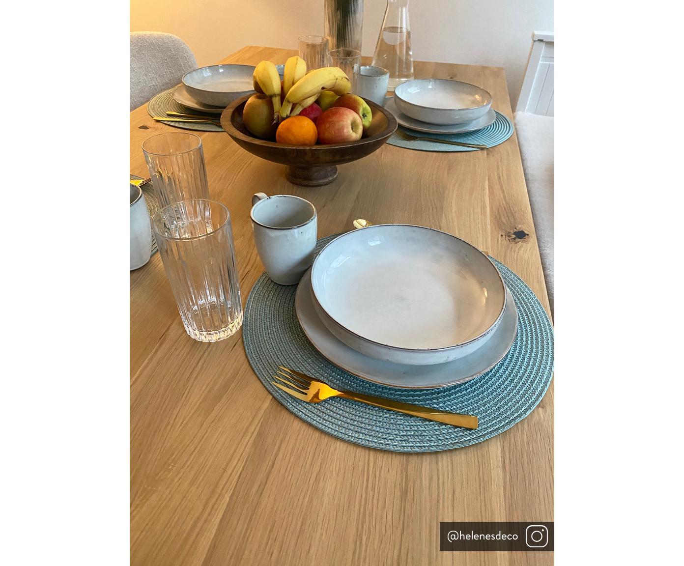 Ręcznie wykonana miska Nordic Sand, 4 szt., Kamionka, Odcienie piaskowego, Ø 22 x W 5 cm