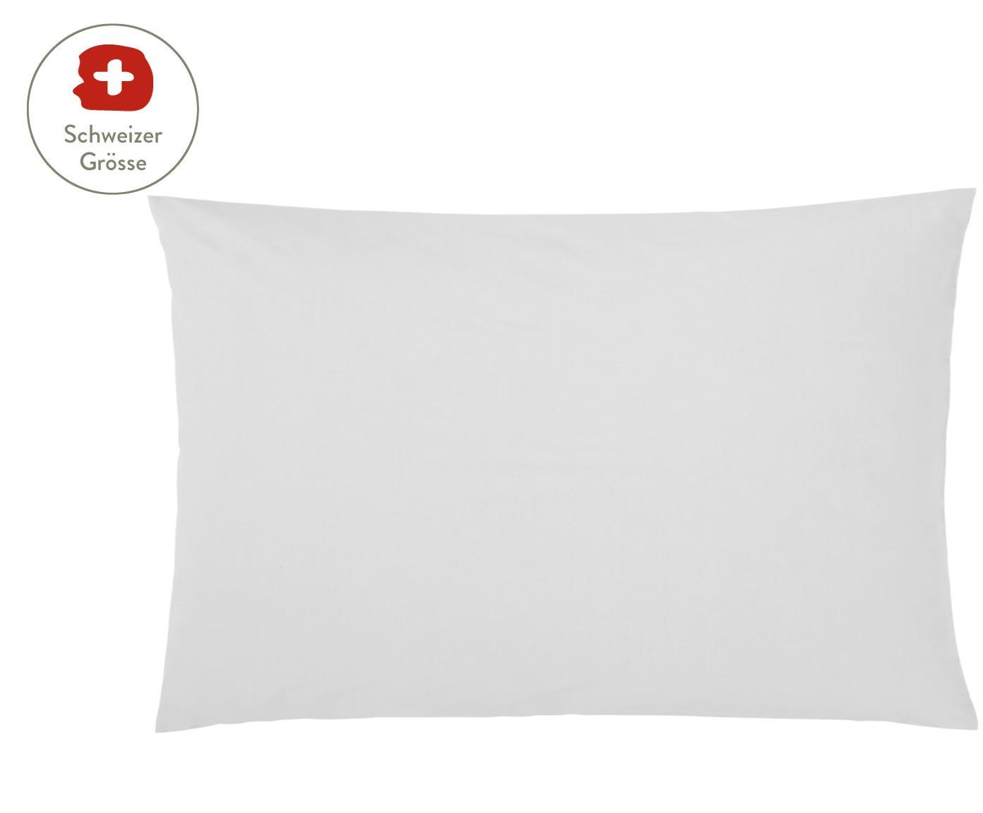 Baumwollperkal-Kissenbezug Elsie in Hellgrau, Webart: Perkal Fadendichte 200 TC, Hellgrau, 65 x 100 cm