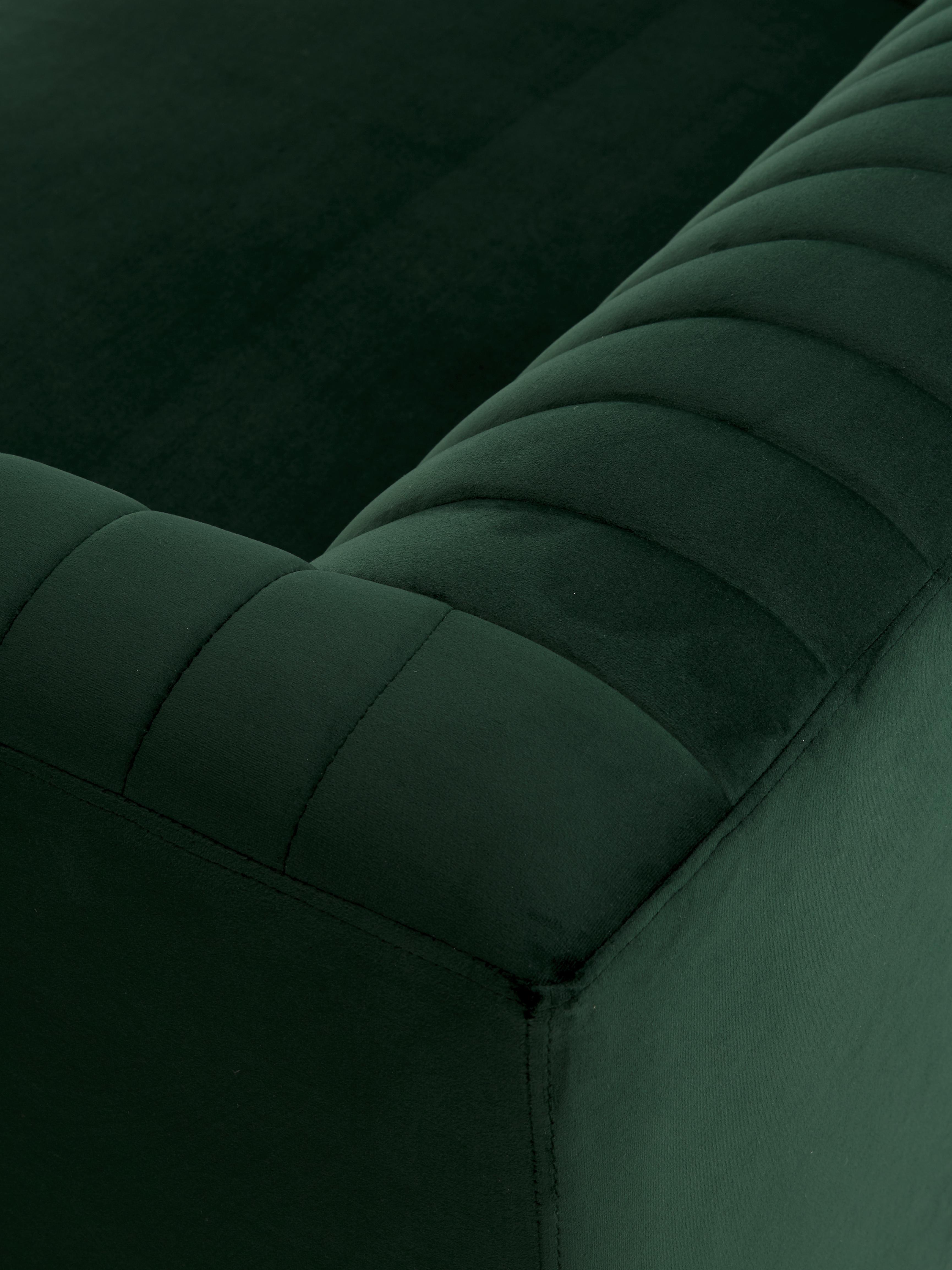Samt-Sofa Dante (3-Sitzer), Bezug: Polyestersamt, Gestell: Kautschukbaumholz, klarla, Samt Grün, B 210 x T 87 cm