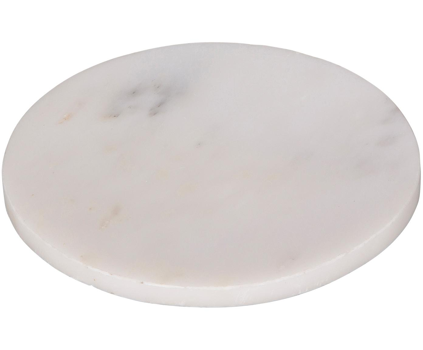 Marmor-Servierplatte Marble, Marmor, Weiß, Ø 15 cm