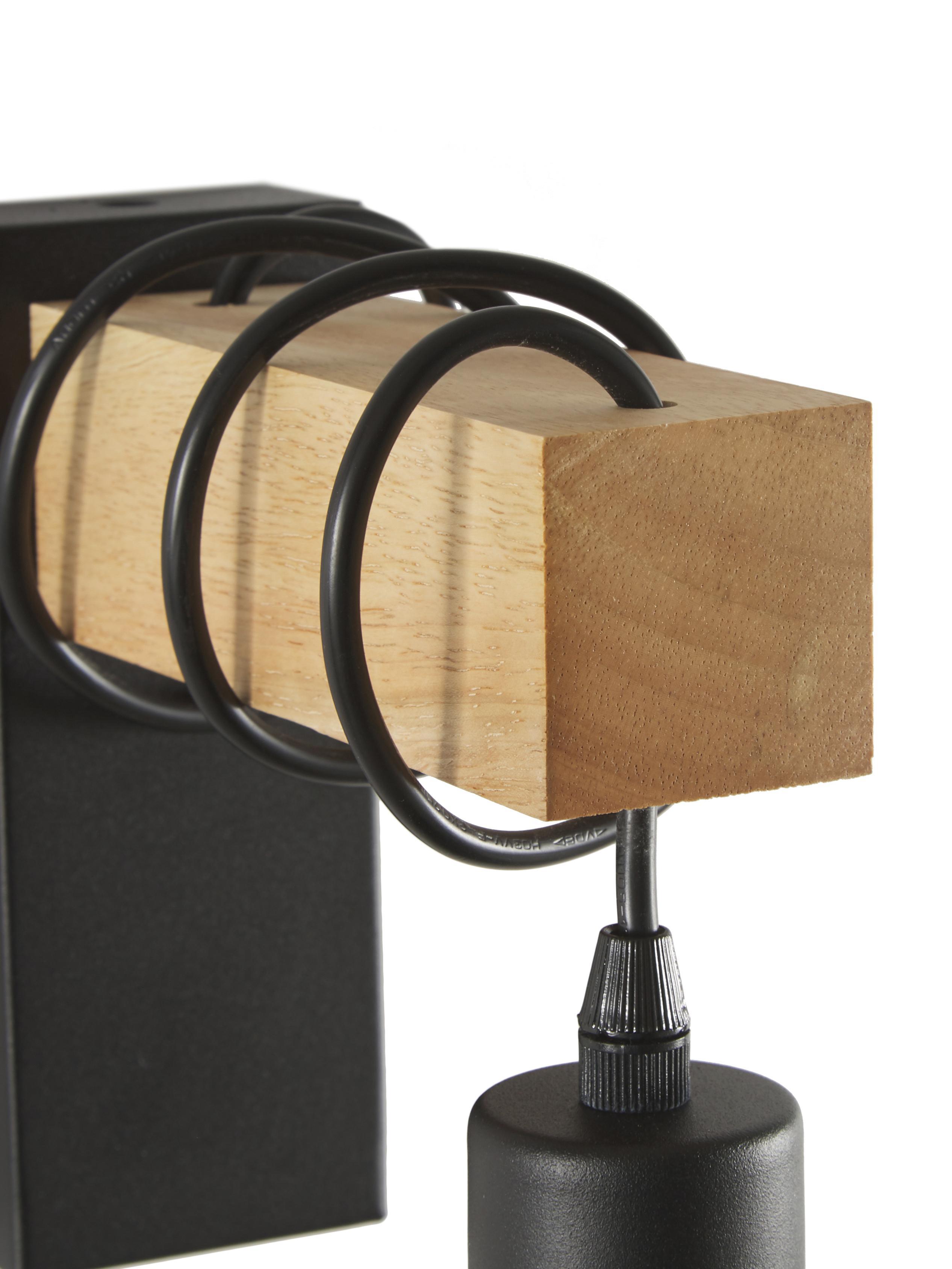 Applique en bois Townshend, Noir, bois